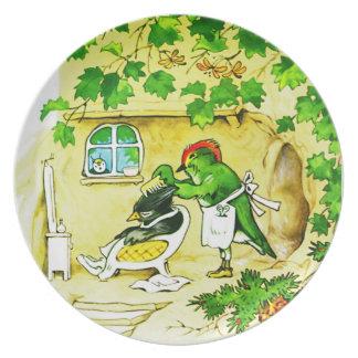 The Bird Barber Melamine Plate
