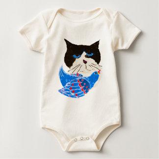 The Bird CAT Baby Bodysuit