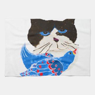 The Bird CAT Hand Towel