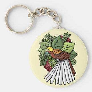 The Bird from Paradise Basic Round Button Keychain