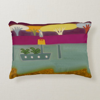 The Bird in the River Thames 2008 Accent Pillow