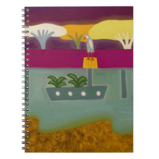 The Bird in the River Thames 2008 Spiral Notebook