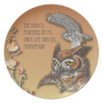 The Bird Is Powered By Its Own Life And Its Motiva Melamine Plate