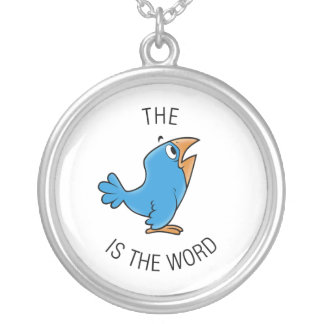 The bird is the word personalized necklace
