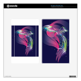 The bird. Northern lights. Kindle Fire Decal