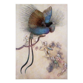The Bird of Paradise by Warwick Goble Poster