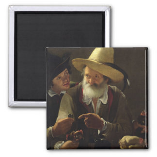 The Bird Seller (oil on canvas) Magnet