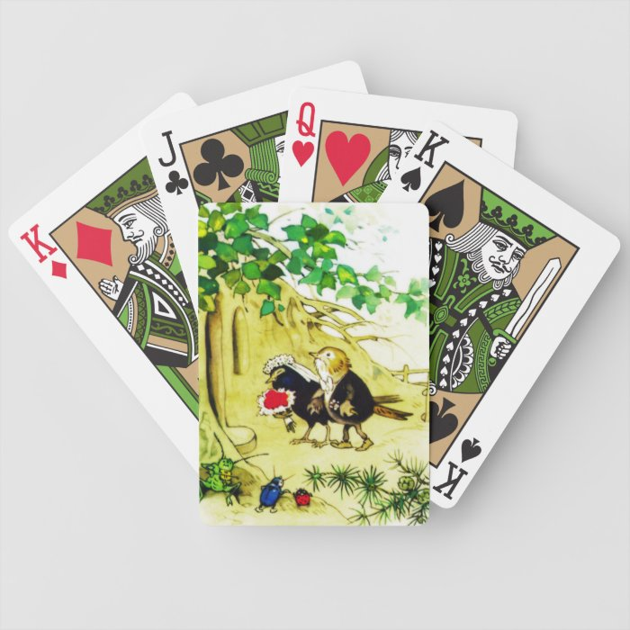 The Bird Wedding Bicycle Playing Cards