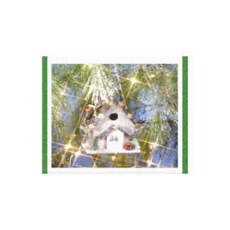 The Birdhouse Ornament- Gallery Wrap Canvas