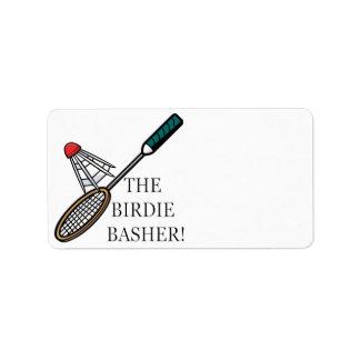 The Birdie Basher Label