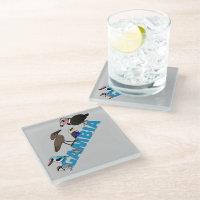 The Birdorable Gambia Glass Coaster