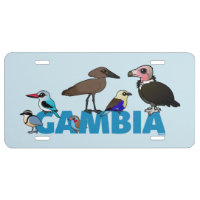 The Birdorable Gambia Aluminum License Plate