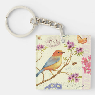 The Birds and the Bees Keychain