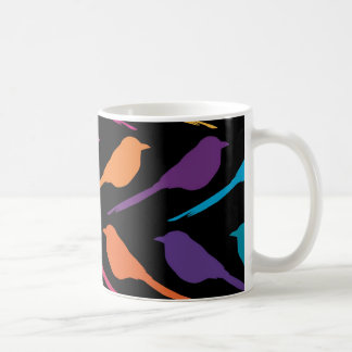 The birds black coffee mug
