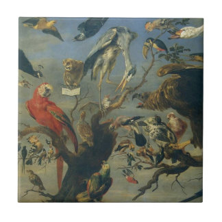 The Bird's Concert by Frans Snyders Tile