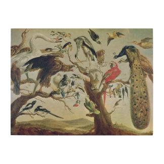 The Bird's Concert Wood Print