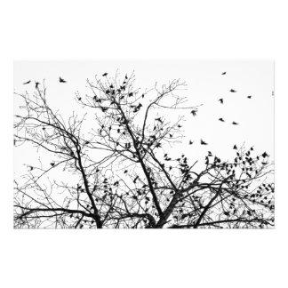 the birds (Hitchcock style) Customized Stationery