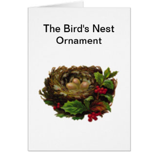 The Birds Nest Ornament Greeting Cards