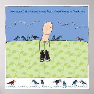 The Birdwatcher & His Birds Poster