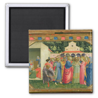 The Birth and Marriage of the Virgin 2 Inch Square Magnet