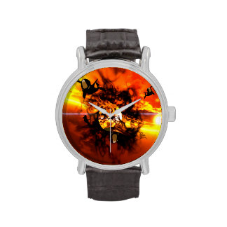 The birth of a planet wrist watch