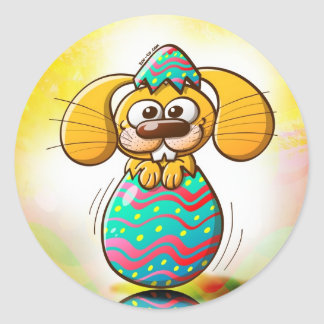 The Birth of an Easter Bunny Stickers