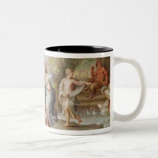 The Birth of Bacchus Two-Tone Coffee Mug