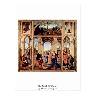 The Birth Of Christ By Pietro Perugino Post Card
