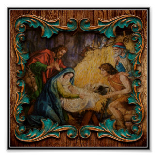 The Birth Of Christ Christmas Holy Family Poster