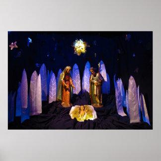 The Birth of Jesus Christ Bethlehem Nativity Scene Posters