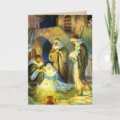 images of jesus birth pictures. The birth of Jesus Christmas Card by forbes1954