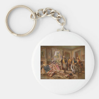 The Birth of Old Glory by Percy Moran c1917 Key Chain