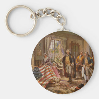 The Birth of Old Glory by Percy Moran c1917 Keychain