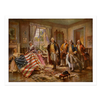The Birth of Old Glory by Percy Moran c1917 Postcard