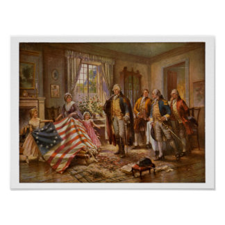 The Birth of Old Glory by Percy Moran c1917 Poster