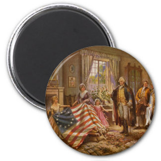 The Birth of Old Glory by Percy Moran Magnet