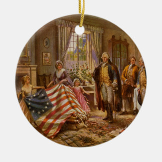 The Birth of Old Glory by Percy Moran Christmas Ornaments