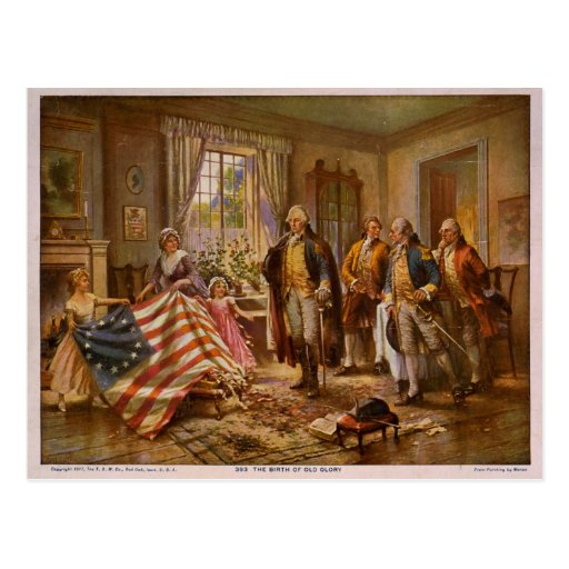 The Birth of Old Glory by Percy Moran Postcard