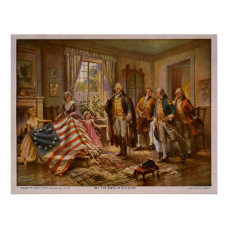 The Birth of Old Glory by Percy Moran Poster