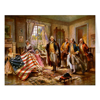 """The Birth Of Old Glory"" - Circa 1917 Card"