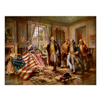 """""""The Birth Of Old Glory"""" - Circa 1917 Poster"""