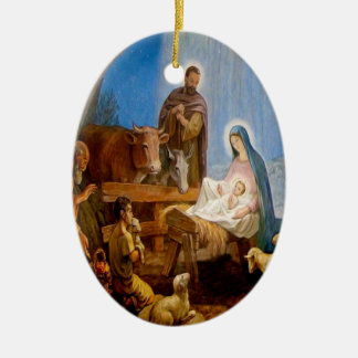 The Birth of Our Lord and Savior Jesus Christ Ceramic Ornament