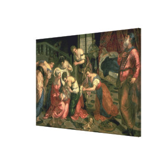The Birth of St. John the Baptist, 1550-59 Stretched Canvas Print