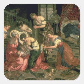 The Birth of St. John the Baptist, 1550-59 Square Sticker