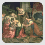 The Birth of St. John the Baptist, 1550-59 Square Stickers