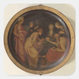 The Birth of St. John the Baptist, c.1526 (oil on Square Sticker