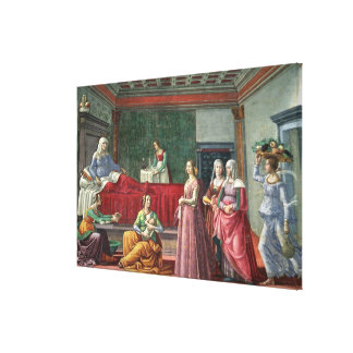 The Birth of St. John the Baptist (fresco) (see al Canvas Print