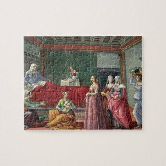 The Birth of St. John the Baptist (fresco) (see al Jigsaw Puzzle