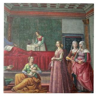 The Birth of St. John the Baptist (fresco) (see al Tile