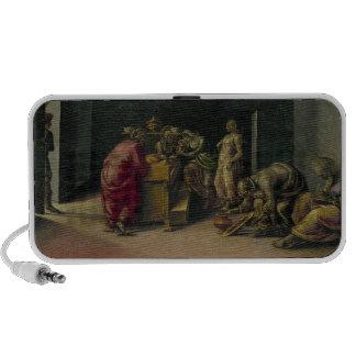 The Birth of St. John the Baptist (oil on panel) iPod Speakers